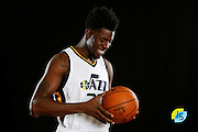Utah Jazz's Henry Sims poses for a photograph during an NBA basketball media day Monday, Sept. 26, 2016, in Salt Lake City. (AP Photo/Jeff Swinger)