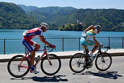 PAVLIN Simon of KK Adria Mobil and BOZIC Borut of Astana during 3rd Stage (219 km) at 19th Tour de Slovenie 2012, on June 16, 2012, in Skofja Loka, Slovenia. (Photo by Matic Klansek Velej / Sportida.com)