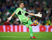 SEVILLE, SPAIN - NOVEMBER 03:  Vicente Guaita of Getafe CF in action  during the La Liga match between Real Betis and Getafe at Estadio Benito Villamarin  on November 3, 2017 in Seville, .  (Photo by Aitor Alcalde Colomer/Getty Images)