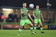 Forest Green Rovers Liam Shephard(2) controls the ball during the EFL Sky Bet League 2 match between Forest Green Rovers and Macclesfield Town at the New Lawn, Forest Green, United Kingdom on 29 December 2019.