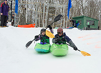 3rd annual Boat Bash Snow Crash at Veteran's Memorial Ski Hill in Franklin.  Karen Bobotas for the Laconia Daily Sun
