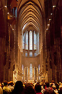 Europa, Deutschland, Koeln, im Dom.<br /> <br /> Europe, Germany, Cologne, inside the cathedral.