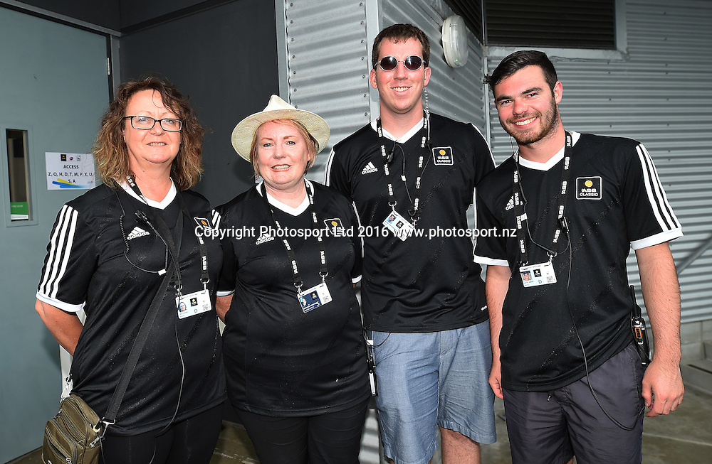 Volunteers on quarter finals day at the ASB Classic Tennis Men's tournament. ASB Tennis Centre, Stanley st, Auckland, New Zealand. Thursday 14 January 2016. Copyright Photo: Andrew Cornaga / www.photosport.nz