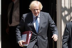 © Licensed to London News Pictures. 24/06/2020. London, UK.   British Prime Minister Boris Johnson leaves Downing St to attend Prime Minister's Question time in the Houses of Parliament. Photo credit: Ray Tang/LNP