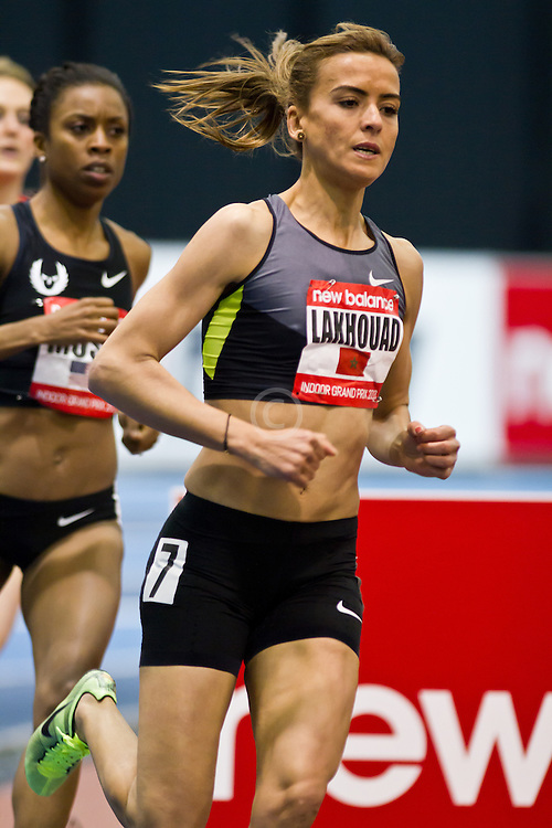 New Balance Indoor Grand Prix track meet: Women's Mile, Btissam Lakhouad, MAR