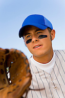 Baseball Infielder Ready For Play