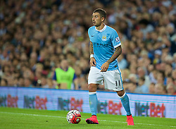 WEST BROMWICH, ENGLAND - Monday, August 10, 2015: Manchester City's Aleksandar Kolarov in action against West Bromwich Albion during the Premier League match at the Hawthorns. (Pic by David Rawcliffe/Propaganda)