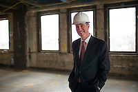 NEW YORK, NY &ndash; NOVEMBER 8, 2013:  CEO of Marriott Hotels, Arne Sorenson, at the at the Metropolitan Life Insurance Company Tower on Madison Square Park in Manhattan where a new brand of Marriott Hotels, Edition Hotel New York, is being installed and set to open in 2015. <br /> <br /> Photo &copy; Robert Caplin