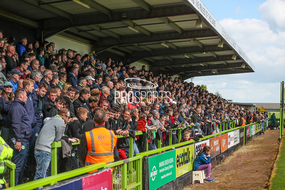 The North Stand during the EFL Sky Bet League 2 match between Forest Green Rovers and Exeter City at the New Lawn, Forest Green, United Kingdom on 4 May 2019.