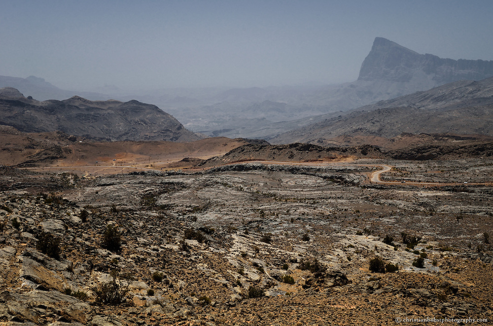 The street to the top of Shebel Shams, Oman, 2011