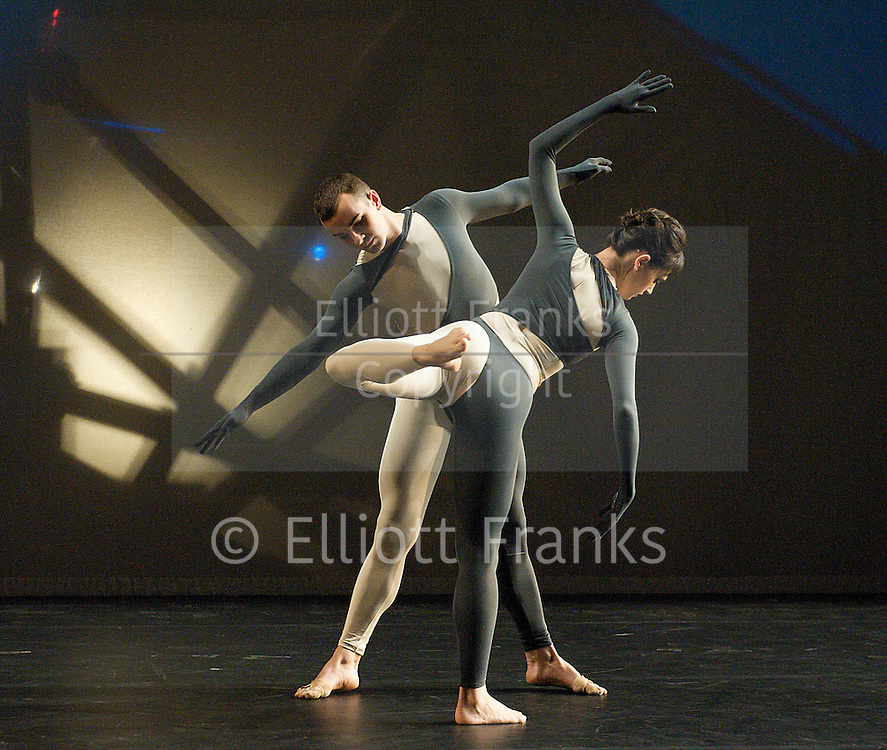 Nearly Ninety<br /> The Merce Cunningham Dance Company <br /> choreography by Merce Cunningham<br /> at The Barbican Theatre, London, Great Britain <br /> rehesrsal <br /> 26th October 2010 <br /> <br /> <br /> <br /> Brandon Collwes<br /> Emma Desjardins<br /> <br /> <br /> Photograph by Elliott Franks<br /> 2010©Elliott Franks