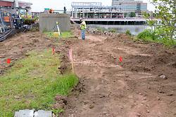 Boathouse at Canal Dock Phase II | State Project #92-570/92-674 Construction Progress Photo Documentation No. 11 on 23 May 2017. Image No. 03 Sidewalk Work