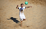CATANIA, ITALY - AUGUST 16: Kevin Sooaluste of Estonia in action during the Euro Beach Soccer League match between Moldova and Estonia on August 16, 2019 in Catania, Italy. (Photo by Quality Sport Images