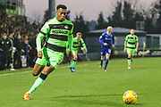 Forest Green Rovers Tahvon Campbell(14) runs forward during the EFL Sky Bet League 2 match between Forest Green Rovers and Morecambe at the New Lawn, Forest Green, United Kingdom on 17 November 2018.