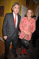 ANTONY BEEVOR and LADY ANTONIA FRASER at a party to celebrate the publication of Charles Glass's new book 'Americans in Paris' held at 12 Lansdowne Road, London W1 on 25th March 2009.