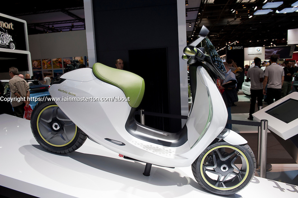 SMART electric scooter on display at Paris Motor Show 2010