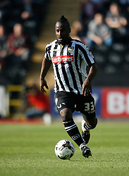 Stanley Aborah of Notts County in action - Mandatory byline: Jack Phillips / JMP - 07966386802 - 11/10/2015 - FOOTBALL - Meadow Lane - Nottingham, Nottinghamshire - Notts County v Plymouth Argyle - Sky Bet Championship