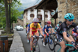 Hayley Simmonds (GBR) of Team WNT reaches Axpe in the peloton during Stage 1 of the Emakumeen Bira - a 50 km road race, starting and finishing in Iurreta on May 16, 2017, in Basque Country, Spain.
