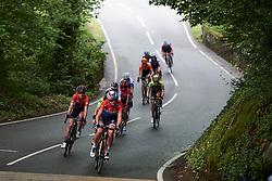 Chantal Blaak (NED) and Hannah Barnes (GBR) lead the break on Stage 6 of 2019 OVO Women's Tour, a 125.9 km road race from Carmarthen to Pembrey, United Kingdom on June 15, 2019. Photo by Sean Robinson/velofocus.com