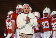 PALO ALTO, CA -  SEPTEMBER 18:  Head coach Bill Walsh of the Stanford Cardinal looks pensive during an NCAA football game between Stanford University and the University of Colorado at Boulder played at Stanford Stadium in Palo Alto, California on September 18, 1993. (Photo by David Madison/Getty Images) *** Local Caption *** Bill Walsh