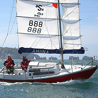 Amiina, The Needles, Round the Island Race, 2015, Isle of Wight, UK, Sports Photography