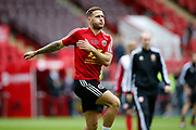 Billy Sharp of Sheffield United warming up for the Premier League match between Sheffield United and Crystal Palace at Bramall Lane, Sheffield, England on 18 August 2019.