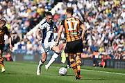 West Bromwich Albion defender Kieran Gibbs (3) sprints forward with the ball during the EFL Sky Bet Championship match between West Bromwich Albion and Hull City at The Hawthorns, West Bromwich, England on 19 April 2019.