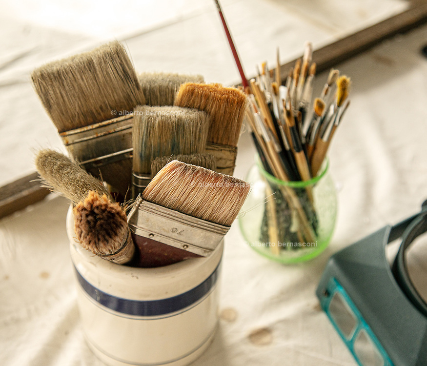 FLORENCE: restorer Rossella Rari in her studio