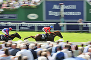 THREAT (14) ridden by Oisin Murphy and trained by Richard Hannon winning The Group 2 Al Basti Equiworld Dubai Gimcrack Stakes over 6f (£225,000)  during the Ebor Festival at York Racecourse, York, United Kingdom on 23 August 2019.