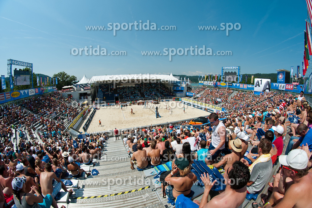 View on the main court at A1 Beach Volleyball Grand Slam tournament of Swatch FIVB World Tour 2011, on August 3, 2011 in Klagenfurt, Austria. (Photo by Matic Klansek Velej / Sportida)
