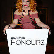 Jinkx Monsoon presenters of the Gay Times Honours on 18th November 2017 at the National Portrait Gallery in London, UK.