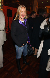 MISS ALICE BAMFORD at a party to celebrate the publication of 'E is for Eating' by Tom Parker Bowles held at Kensington Place, 201 Kensington Church Street, London W8 on 3rd November 2004.<br />