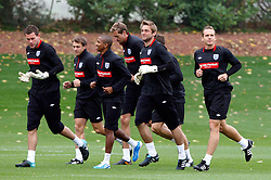 08.10.2010, Arsenal Training Ground, London, ENG, Qualifing UEFA Euro 2012, training England, im Bild Left to Right Ben Foster (Birmingham City),Robert Green (West Ham United )and Kevin Davies (Bolton Wanderers).England Training.EXPA Pictures © 2010, PhotoCredit: EXPA/ IPS/ Kieran Galvin +++++ ATTENTION - OUT OF ENGLAND/UK +++++