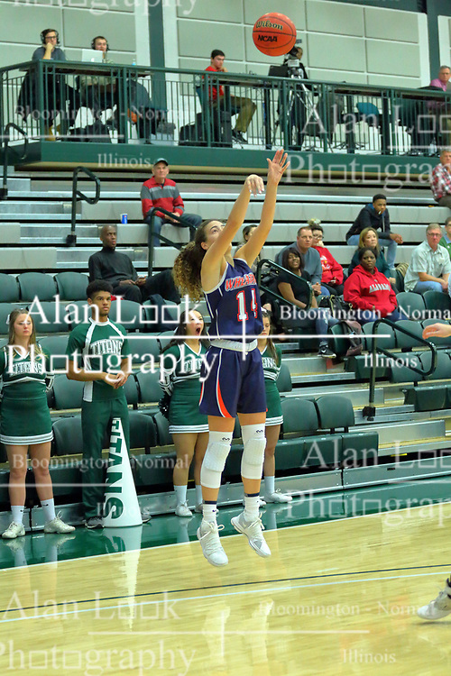 06 December 2017:  Devin Kyler during an NCAA women's basketball game between the Wheaton Thunder and the Illinois Wesleyan Titans in Shirk Center, Bloomington IL