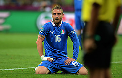24.06.2012, Olympia Stadion, Kiew, UKR, UEFA EURO 2012, England vs Italien, Viertelfinale, im Bild Daniele DE ROSSI (Italia) // during the UEFA Euro 2012 Quarter Final Match between Enland and Italy at the Olympic Stadium, Kiev, Ukraine on 2012/06/24. EXPA Pictures © 2012, PhotoCredit: EXPA/ Insidefoto/ Alessandro Sabattini..***** ATTENTION - for AUT, SLO, CRO, SRB, SUI and SWE only *****
