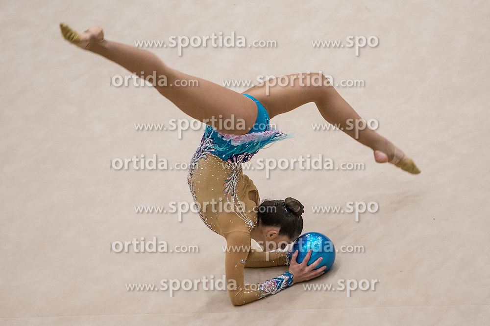 Rodriguez Carolina of Spain competes during 29th MTM - International tournament in rhythmic gymnastics Ljubljana, on March 12, 2016 in gymnastics center Ljubljana, Ljubljana, Slovenia.  Photo by Grega Valancic / Sportida