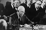 US President Eisenhower addressing the North Atlantic Treaty Organisation (NATO) Conference) 1963.