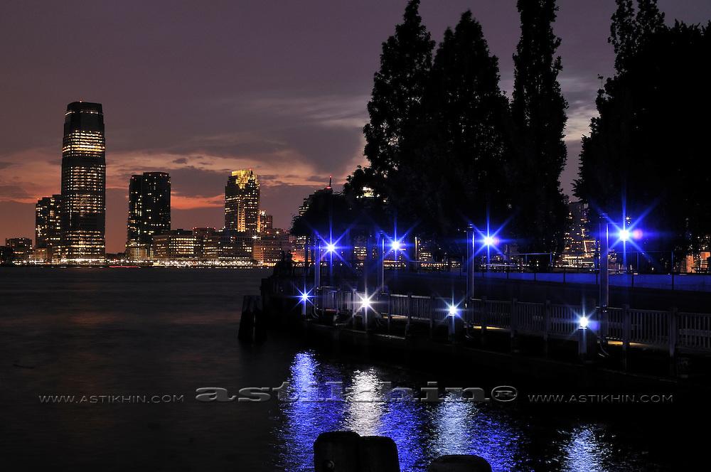Twilight on Hudson River