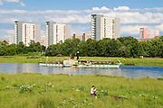 Elbe, Dampfer, Johannstadt, Dresden, Sachsen, Deutschland.|.river Elbe, steamer, Johannstadt, Dresden, Germany