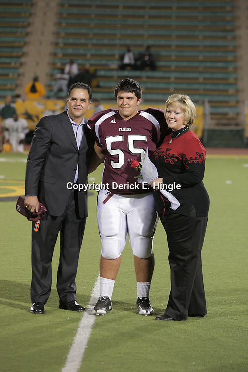 31 October, 2008: St. Thomas Aquinas OT/G Russell Ribando  (#55) The St. Thomas Falcons recorded their first shut out of the season with a 41-0 shutout of the Southern Lab Kittens at Strawberry Stadium in Hammond, LA.