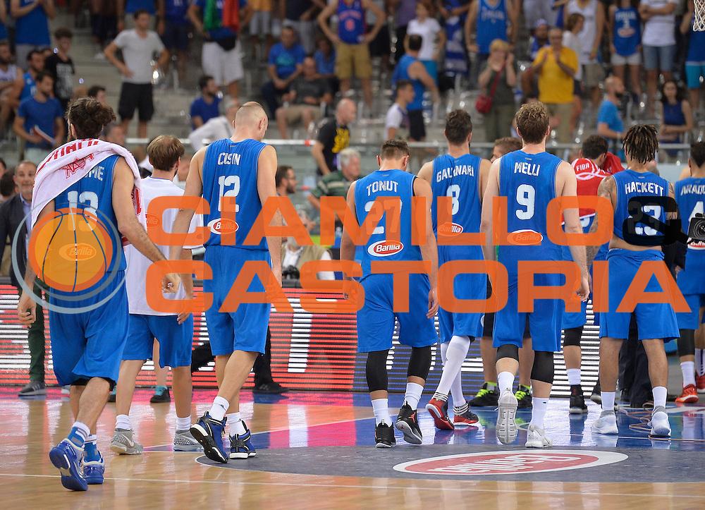 DESCRIZIONE: Torino FIBA Olympic Qualifying Tournament Finale Italia - Croazia<br /> GIOCATORE: ITALY ITALIA Delusione<br /> CATEGORIA: Nazionale Italiana Italia Maschile Senior<br /> GARA: FIBA Olympic Qualifying Tournament Finale Italia - Croazia<br /> DATA: 09/07/2016<br /> AUTORE: Agenzia Ciamillo-Castoria