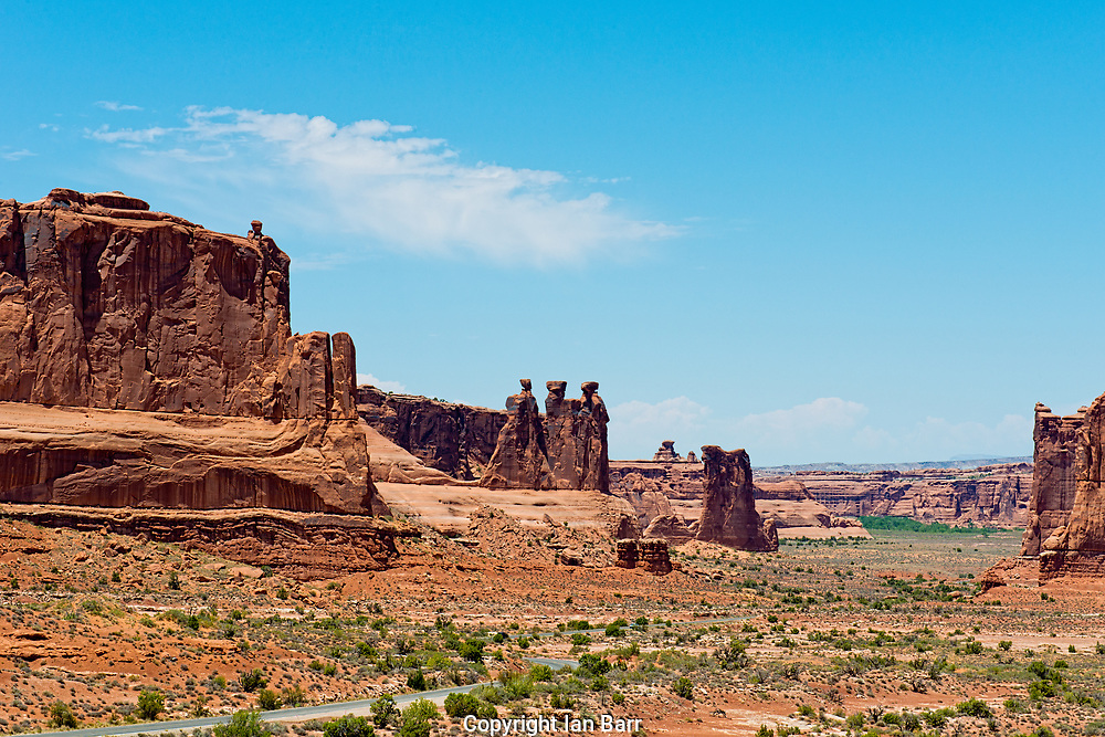 A view of the Three Gossips and Sheep Rock in Arches National Park,Utah