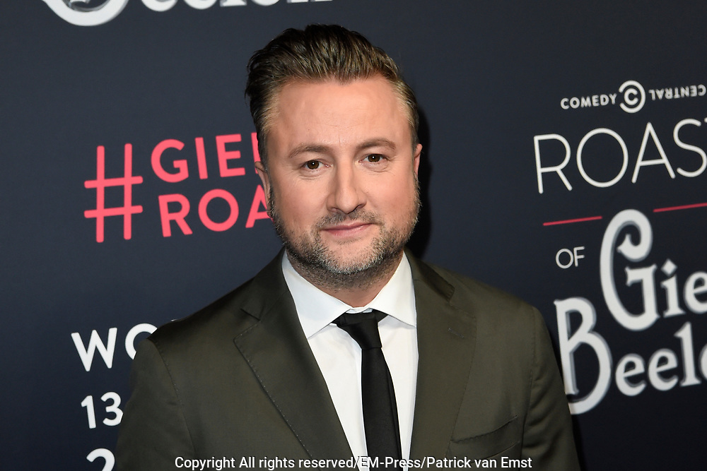 Rode loper Roast of Giel.  In het programma van Comedy Central is een bekende Nederlander een avond lang het onderwerp van harde grappen.<br /> <br /> Op de foto:  Dennis Weening