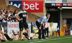 Millwall manager Neil Harris and Southend United manager Kevin Bond  look on - Mandatory by-line: Arron Gent/JMP - 24/07/2019 - FOOTBALL - Roots Hall - Southend-on-Sea, England - Southend United v Millwall - pre season friendly