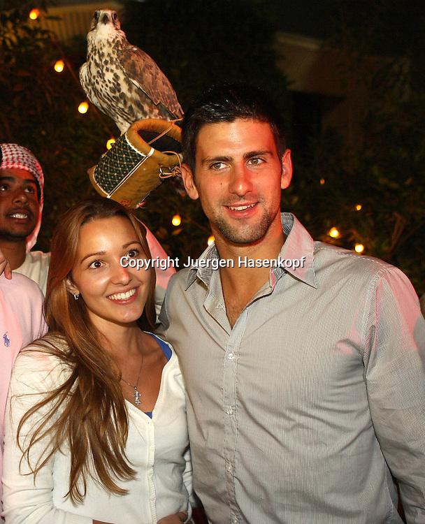 Barclays Dubai Tennis Championships, ATP Tennis..Turnier, United Arab Emirates,V.A.E...Novak Djokovic (SRB)und Freundin Jelena Ristic auf  der Players Party,..Photo: Juergen Hasenkopf