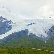 Worthington Glacier as seen from Thompson Pass - south east of Valdez.  The snowiest pass in Alaska