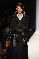 Ruby Aldridge walks the runway wearing BCBG MAXAZRIA Fall 2012 during Mercedes-Benz Fashion Week in New York City,  on February 9th, 2012