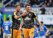 Cambridge United Forward Ben Williamson and Cambridge United Forward Jimmy Spencer during the Sky Bet League 2 match between Portsmouth and Cambridge United at Fratton Park, Portsmouth, England on 27 February 2016. Photo by Adam Rivers.
