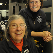 Rescue Chief Joyce Thomas, right, works closely with her teammate and fellow EMT, Marolyn Bibber, to keep the town of Harpswell safe. Both are volunteers and have extensive experience caring for residents of Harpswell. Photo by Roger S. Duncan.