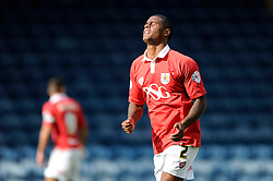 Bristol City's Mark Little cuts a dejected figure as his shot goes wide - Photo mandatory by-line: Dougie Allward/JMP - Mobile: 07966 386802 23/08/2014 - SPORT - FOOTBALL - Manchester - Spotland Stadium - Rochdale AFC v Bristol City - Sky Bet League One